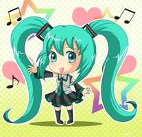 Miku Chibi by Domestic-hedgehog