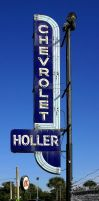 Holler Chevrolet Sign - 1950's by TomFawls