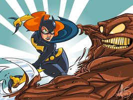 Batgirl VS Clayface Color by msandborn