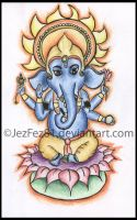 Ganesh Tattoo- My Style by Jezzy-Fezzy