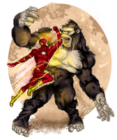 The Flash vs. Gorilla Grodd by gregbo