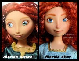 repainted ooak merida doll. - close up. by verirrtesIrrlicht