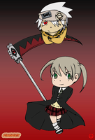 Soul Eater: Maka and Soul by Pikaspirit