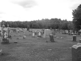 Old Cemetery Touched Up B/W 20 by TheGreatWiseAss