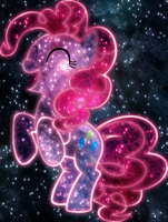 Yay, cosmic Pinkie Pie by AmazingPony