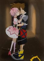 Commission: Sora x Madoka by airnaxela
