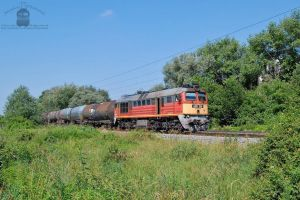 628 308 with a freight train near Gyor by morpheus880223