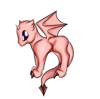 A pink dragon. Nuff said. by twiliunicorn