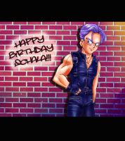 Happy BDay wishes to a friend from Trunks by liaartemisa