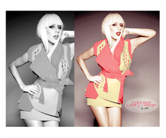 Lady Gaga Colorize by Valle89