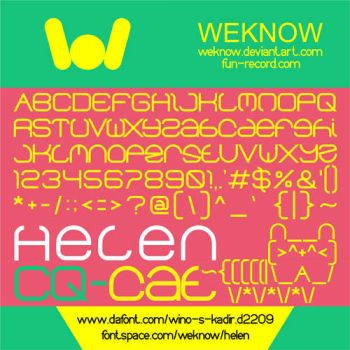 helen font by weknow by weknow