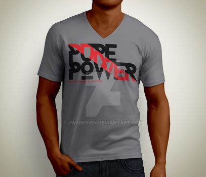 Pure Power T-Shirt by JW3Design