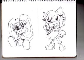 Chibis sonic Characters doodles part 1 by jadenyugi9