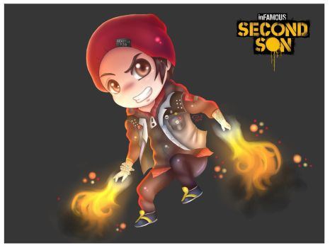 INFAMOUS Second Son: Delsin Rowe (CHiBi) by ChibinatorXD