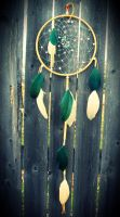 Adventurine and Snow Quartz Dream Catcher by xsaraphanelia