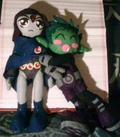 Raven and Beastboy plush by Chibi-BB