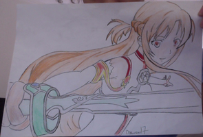 Lighting Flash Asuna from SAO colored by Dakurozu17