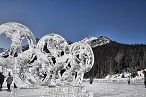 Olympic Rings Ice Sculpture by skip2000