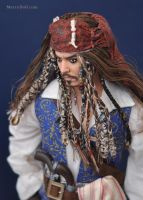Jack Sparrow: repaint of Mattel doll by mary-vassilieva