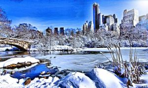 Skyline Winterscape by montag451