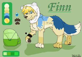 Finn the wolf by MajuFogo