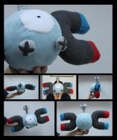 Magnemite Plush by NsomniacArtist