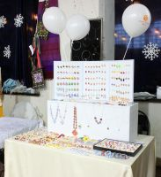 My table at the fair by OrionaJewelry