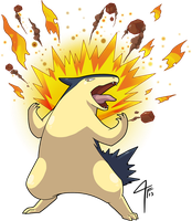 Typhlosion used Eruption