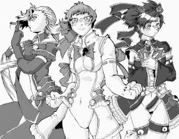 Magical girls characters by DragoonTequila