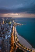 Storms over Chicago by cmozzocchi