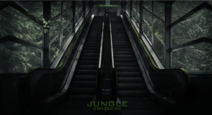staircase jungle background by Unbot