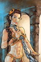 Slave Leia Colored by BanebrookStudios