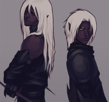 Drow Brothers by Altana