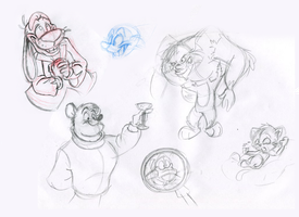 Zolie and Friends Sketches 2 by MartonSzucsStudio