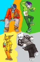 Some Homestar Characters 1 by Elicadragon