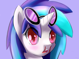 Vinyl with animu eyes by LigerStorm