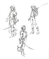 Dissidia Celes Costume Sketches by isaiahjordan