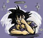 From Heaven Above - Angel Goku by lauraneato