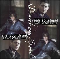 Sam and Dean - Drunken Sam by DBlackwolf