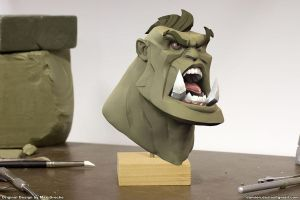 Orc bust Brute by sterna
