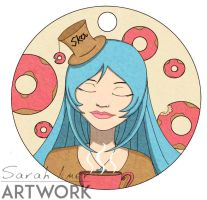 Doghnuts and Tea Bag Charm by sarroora