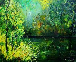 green pond by pledent
