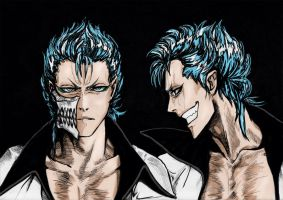 Graphic Grimmjow (Hair Practice from blackstorm) by ebjeebies
