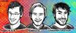 Markiplier, Pewdiepie and CinnamonToastKen by sibbies