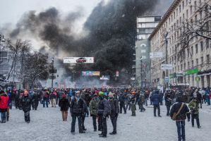 Maidan 22/01/14, Kyiv, Ukraine by shyrivo