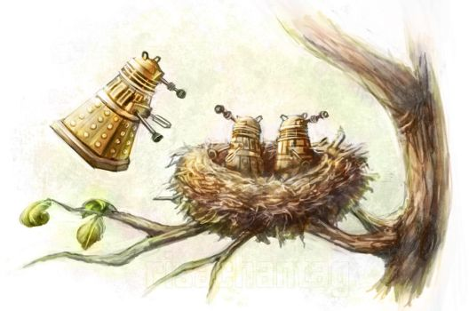 Dr Who: Nesting Daleks by Risachantag