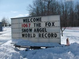 Snow Angel World Record Sign by Dusk-Wolf