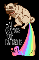 T-shirt: Eat Crayons. Poop Rainbows. by Littletde