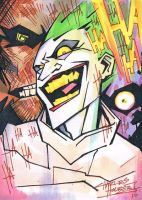 Arkham Riot sketch card by KidNotorious