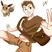 Humanized Eevee Sketch by TheDeepestKing